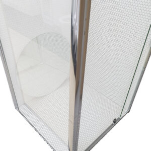 Square Semi-Frameless Showerscreen